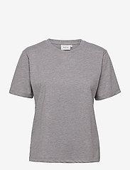 Gestuz - RoxieGZ ss tee NOOS - t-shirts - grey melange - 1