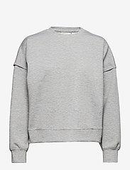Gestuz - ChrisdaGZ MEL sweatshirt - sweatshirts - light grey melange - 0