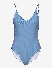 Gestuz - MyoGZ swimsuit - badedragter - blue stripes - 1