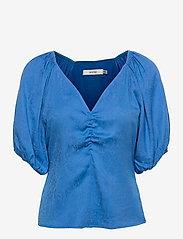 Gestuz - BegoniaGZ blouse - kortærmede bluser - french blue - 1