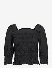 Gestuz - LenaGZ blouse - langærmede bluser - black - 1