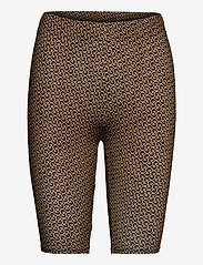 Gestuz - PiloGZ MW printed short tights - cykelshorts - brown logo - 1