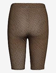 Gestuz - PiloGZ MW printed short tights - cykelshorts - brown logo - 2