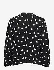 Gestuz - FjolaGZ duo shirt - langærmede bluser - black w/grey dot - 2