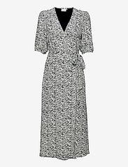 Gestuz - DisGZ wrap dress - sommerkjoler - grey wave - 1