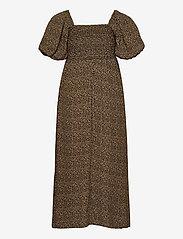 Gestuz - LifGZ long dress - sommerkjoler - brown mini leo - 2
