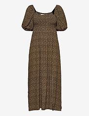 Gestuz - LifGZ long dress - sommerkjoler - brown mini leo - 1