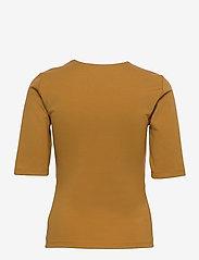Gestuz - MalbaGZ squareneck tee - t-shirts - bone brown - 2