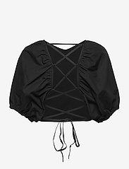 Gestuz - SvalaGZ top - kortærmede bluser - black - 2
