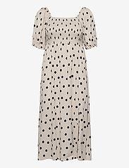 Gestuz - DoraGZ short dress - sommerkjoler - off white w black dot - 0