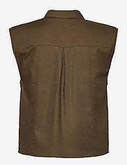 Gestuz - AssaGZ sl shirt - puffer vests - capers - 1