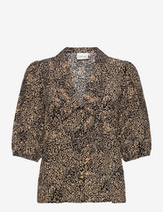 Gestuz - JodisGZ ss blouse - kortærmede bluser - sahara dust leo - 0
