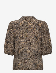 Gestuz - JodisGZ ss blouse - kortærmede bluser - sahara dust leo - 1