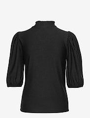 Gestuz - RifaGZ ss zipper tee - langærmede bluser - black - 1