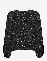 Gestuz - KatlaGZ ls shirt - langærmede skjorter - black w. white dot - 2