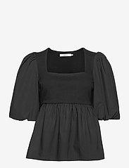 Gestuz - CristinGZ blouse - kortærmede bluser - black - 1