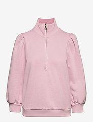 NankitaGZ ss zipper sweatshirt - FRAGRANT LILAC