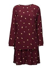 Amberly dress AO17 - ZINFANDEL FLOWER PRINT