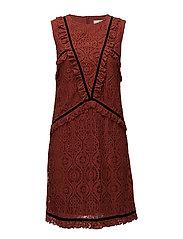 Marina dress AO17 - ROSEWOOD