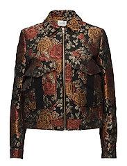 Edie jacket MA17 - RED ROSE JACQUARD