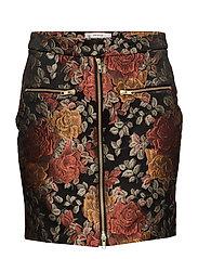 Edie skirt MA17 - RED ROSE JACQUARD