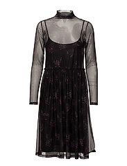 Mesha dress ZE1 17 - PINK/BLACK PRINT