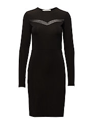 Sana short dress YE17 - BLACK