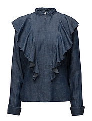 Cyndie blouse SO18 - DENIM BLUE