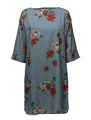 Natacha dress SO18 - LIGHT BLUE FLOWER