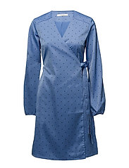 Ihara wrap dress MS18 - GRANADA SKY