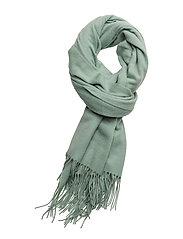 Cross emb scarf SO18 - SILT GREEN