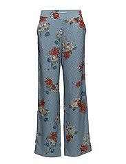 Natacha pants SO18 - LIGHT BLUE FLOWER