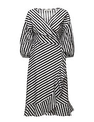 Strielle dress MS18 - DARK BLUE/WHITE STRIPE