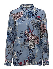 Begonia shirt MS18 - LIGHT BLUE FLOWER