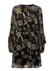 Maui dress MS18 - BLACK PALM