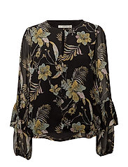 Maui blouse MS18 - BLACK PALM