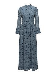 Jeanett long dress MS18 - BLUE FLOWER