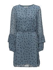 Jeanett dress MS18 - BLUE FLOWER