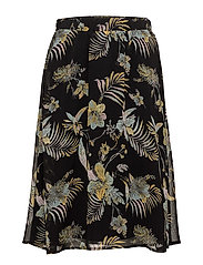 Maui long skirt MS18 - BLACK PALM