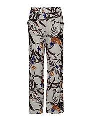Greye pants HS18 - GREY FLOWER PRINT
