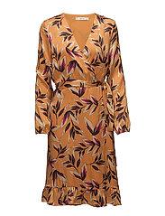 Orangina wrap dress HS18 - ORANGE FLOWER PRINT