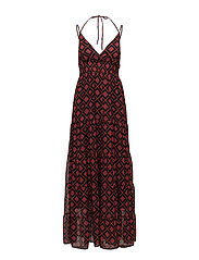 Erica long dress AO18 - RED SQUARE