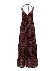 Erica long dress AO18 - RED SQUARE