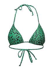Pilea bikini top AO18 - GREEN LEOPARD