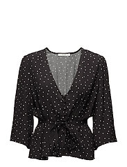 Harper blouse AO18 - BLACK DOT
