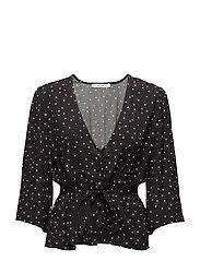 Harper blouse AO18 - BLACK DOT