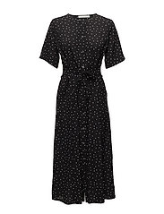 Harper midi dress AO18 - BLACK DOT