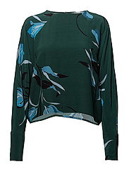 Sille blouse AO18 - FLOWER GREEN