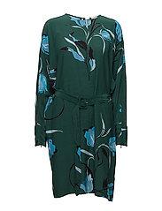 Sille dress AO18 - FLOWER GREEN