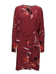Sille dress AO18 - FLOWER RED